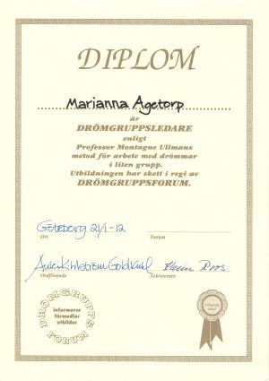 Diplom drömgruppsledare