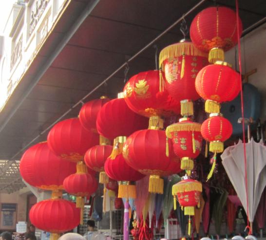 Kina - affärsgata i Shanghai