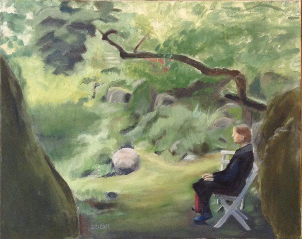 Målning av Birgit Ziegel