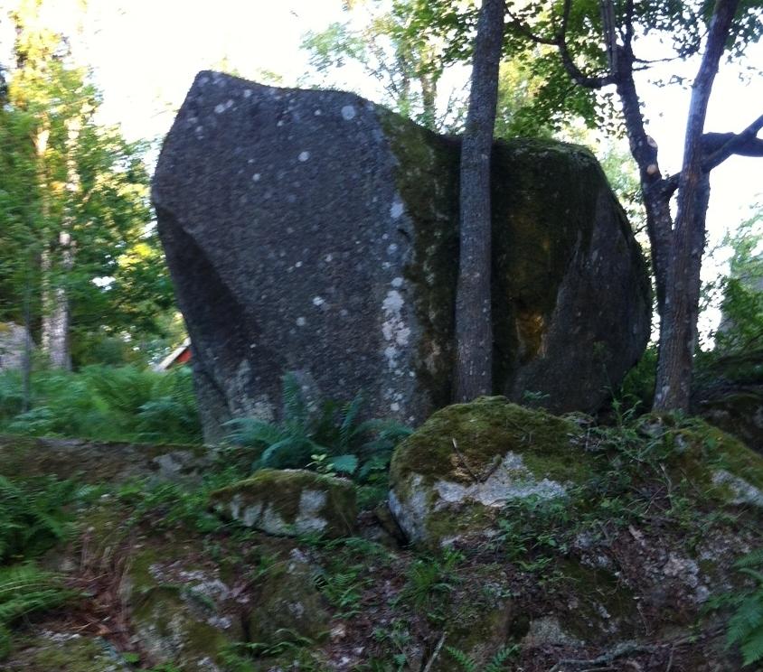 Stenen jag föll från - fast från baksidan.
