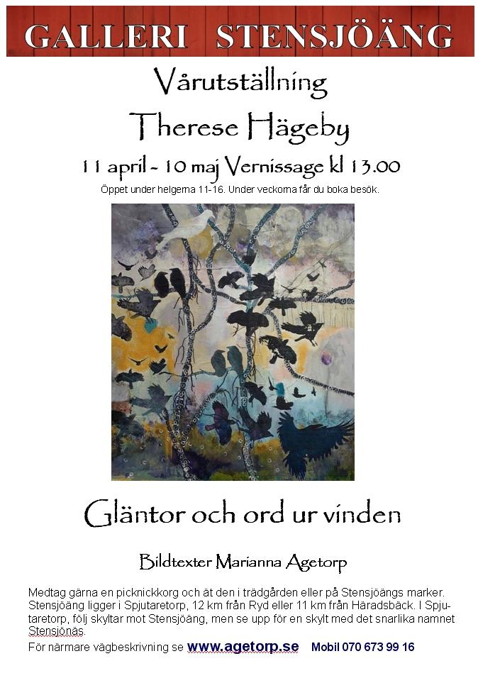 Therese Hägeby på Galleri Stensjöäng