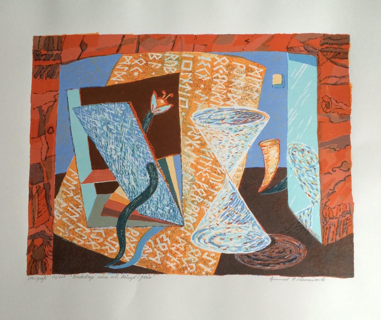 En av Gunnels verk på utställningen.